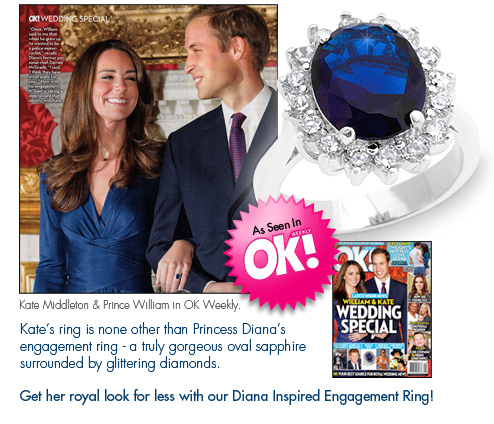 Feel like a true princess with Kate's Engagement Ring!