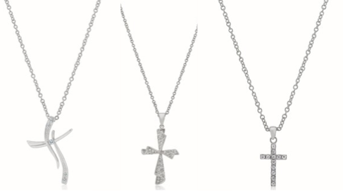 Inspired Silver Cross Pendants