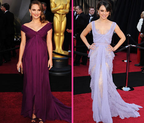 Natalie Portman, Mila Kunis at the 2011 Academy Awards