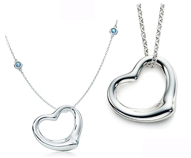 open heart pendant from inspired silver and tiffanys & co