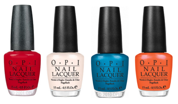 OPI Nail polish summer colors