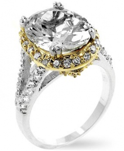 inspired silver engagment ring charlottes two tone sprakler