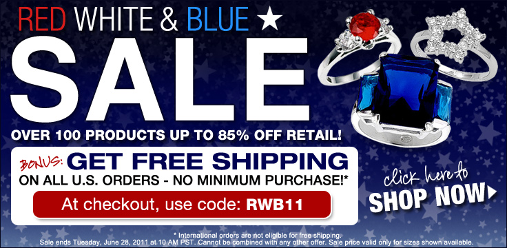 red white blue sale