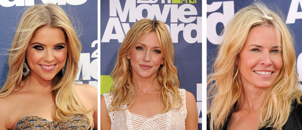 mtv 2011 movie awards blonde celebrities