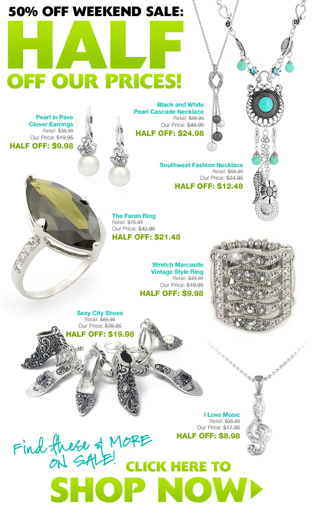 inspired silver half off weekend sale