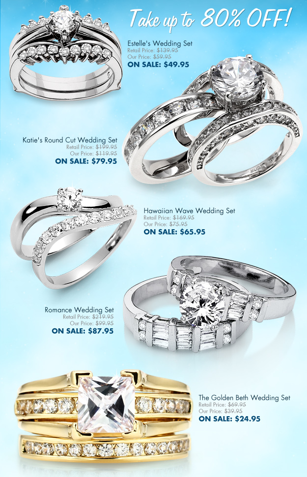 wedding set sale