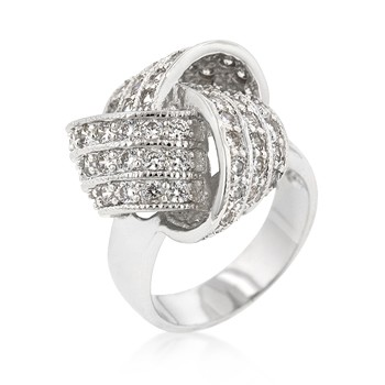 pave knot ring