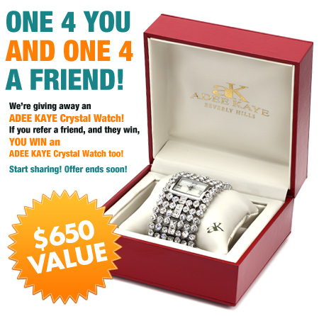 win a $650 adee kaye crystal watch