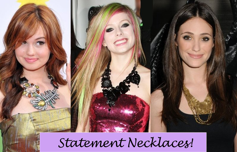 Statement Necklace Jewelry Celebrity Trends