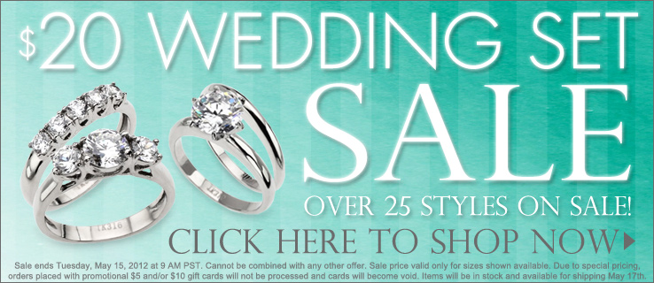 $20 wedding set sale