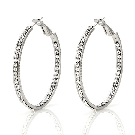 inside out crystal hoop earrings
