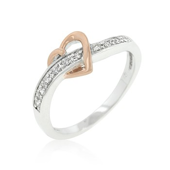 rose gold heart band