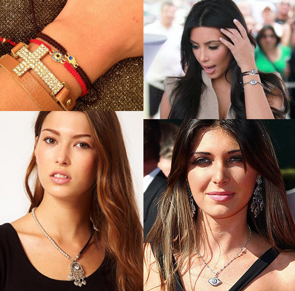 evileye jewelry on celebs