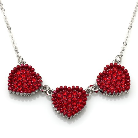 three of hearts necklace