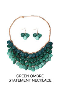 Green Ombre Statement Necklace