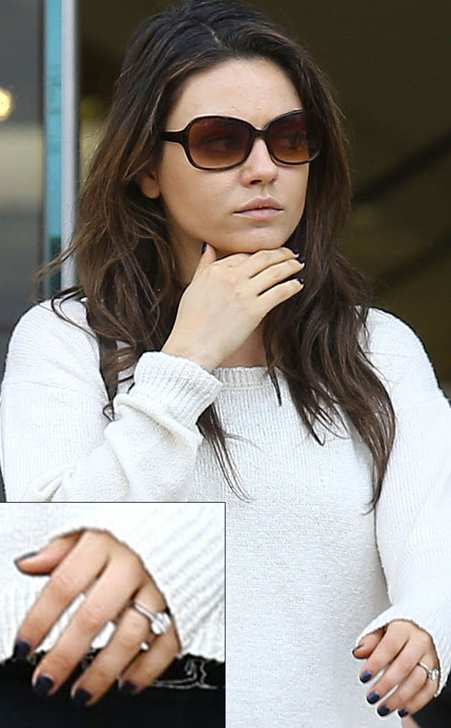 Mila Kunis Engagement Ring